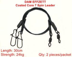 Jeklena predvrvica DAM core7 spin leader 30cm